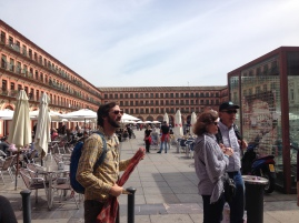 Getting ready to eat at Plaza Mayor