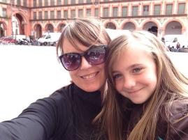 me and Momo at Plaza Mayor