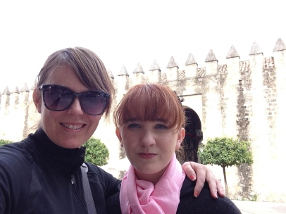 Me and Lulu by part of the old city wall
