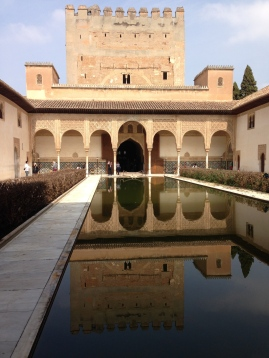 Reflecting pool on the patio de los Arrayanes