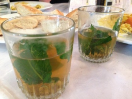 Moroccan whisky (it's just mint tea)