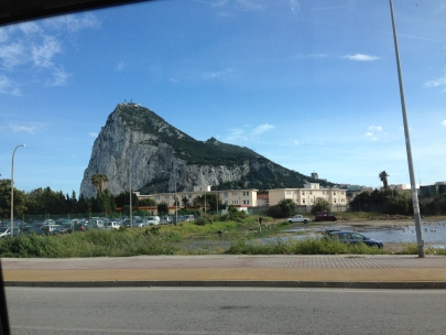 view of the rock from the car