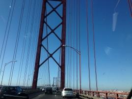driving on the 25 April bridge