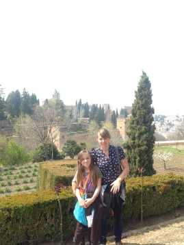 View from the Alhambra garden