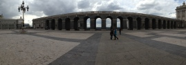 Me & Momo in a panoramic view of Royal Palace courtyard.