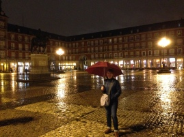 Raining in Plaza Mayor