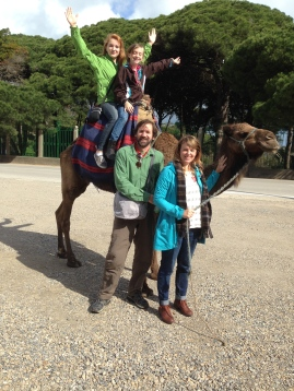 family with camel