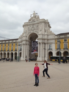 One of the big squares in Lisbon