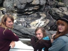 The girls & penguins