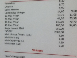 You could separate yourself from a lot of money here at Taylor's....if you really love port.