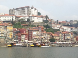 view of the city from the boat